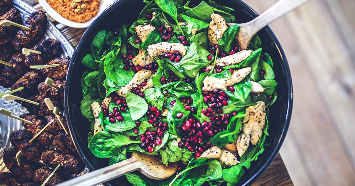 misa spenatoveho salatu pre posilnenie imunity